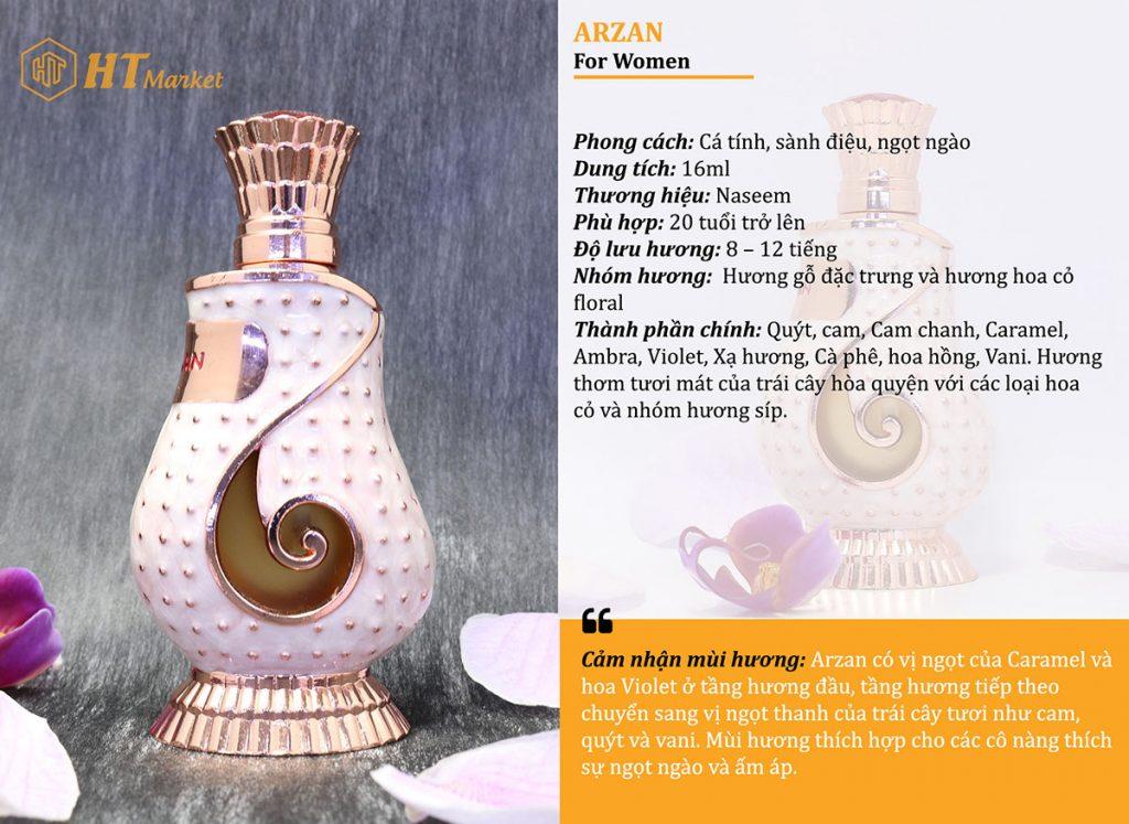 Tinh dầu nước hoa dubai Arzan