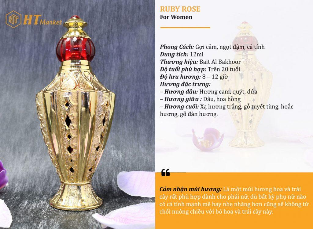 Tinh dầu nước hoa dubai Ruby Rose