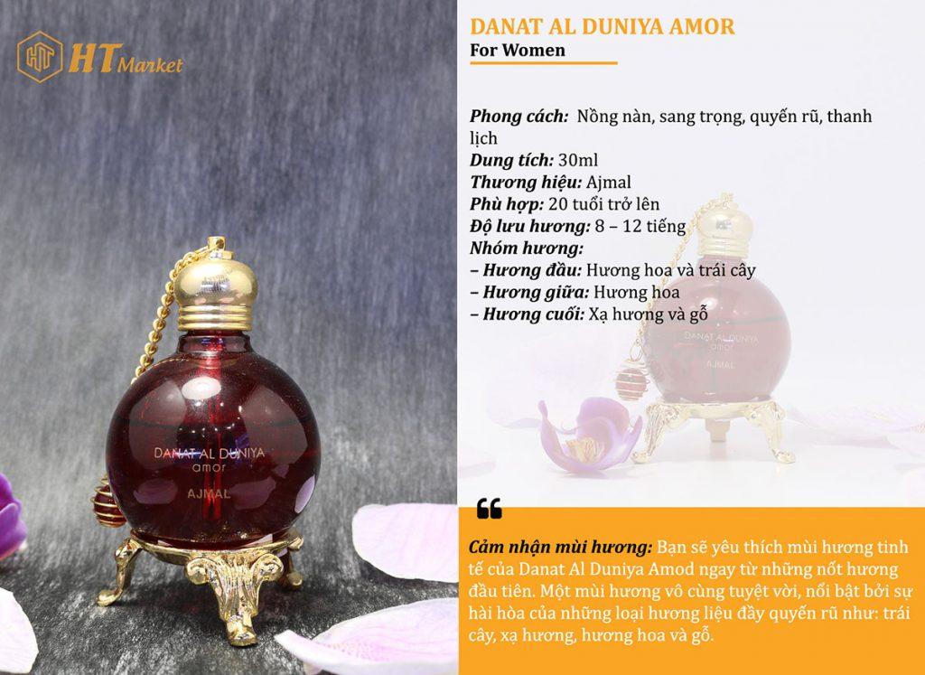 Tinh dầu nước hoa dubai Amor