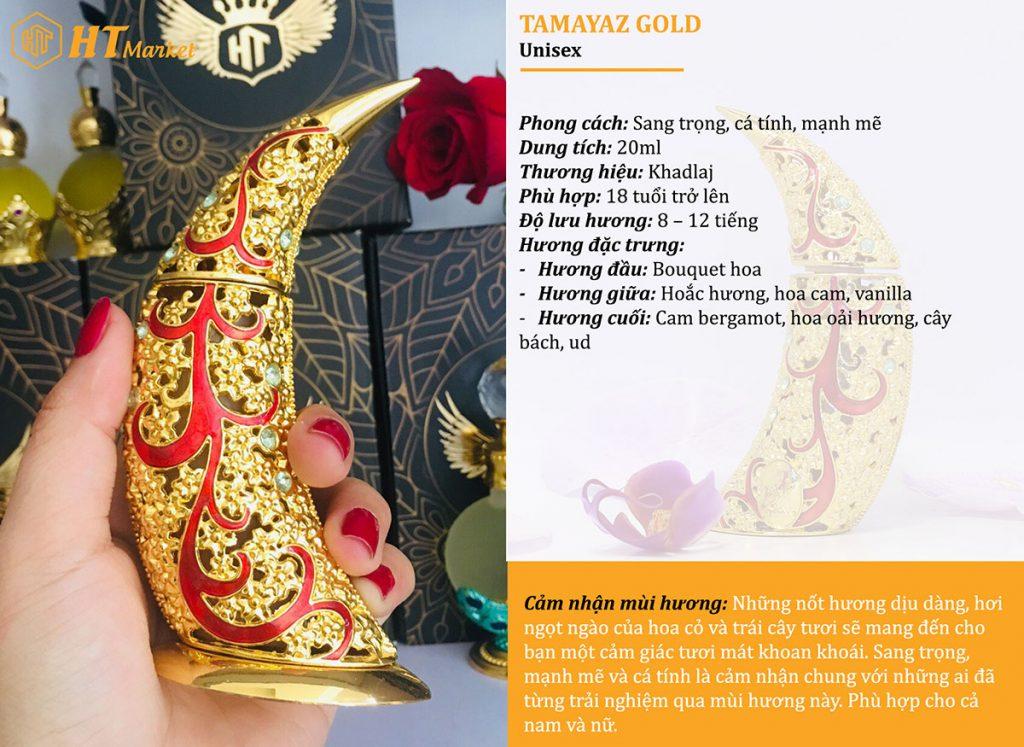 Tinh dầu nước hoa dubai Tamaya Gold