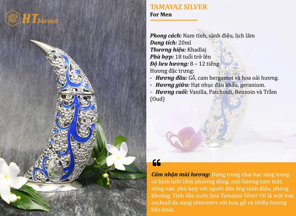 Tinh dầu nước hoa dubai Tamaya Silver