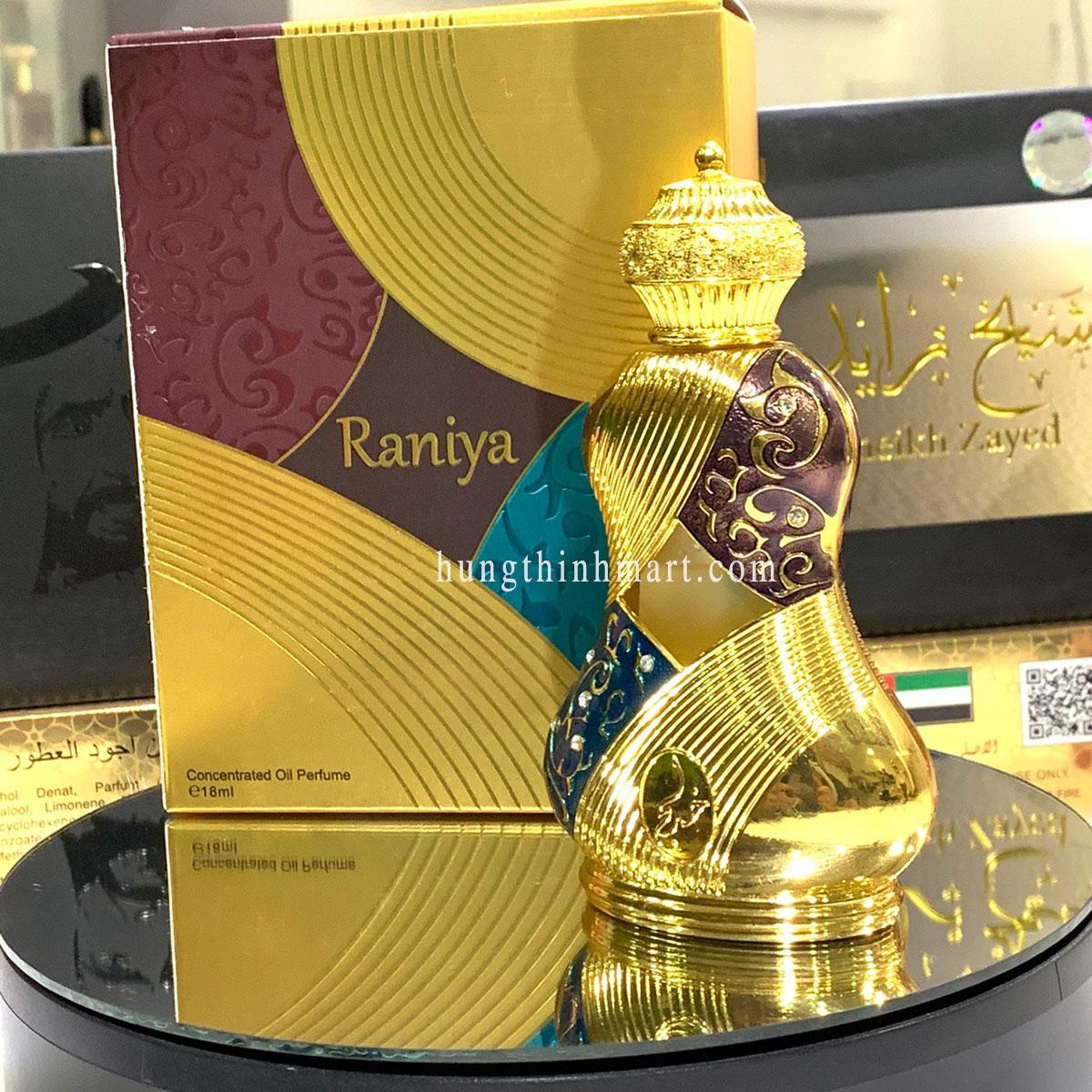 tinh dầu nước hoa Dubai Raniya nồng nhẹ